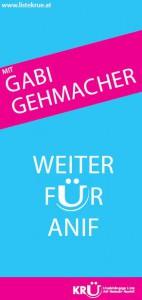 Flyer Gabi Gehmacher