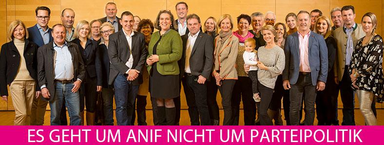 Team der Liste KRÜ mit Gabi Gehmacher